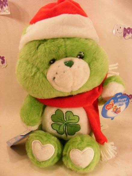 "BNWT 12"" CHRISTMAS GOODLUCK CAREBEAR CARE BEARS"